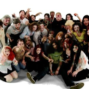 zombies on set